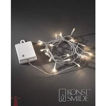 Konstsmide outdoor lichtsnoer 80 warm witte LEDs op batterij 3728-103