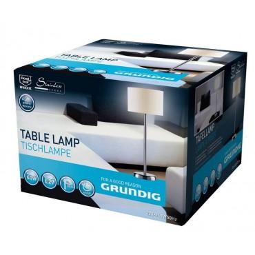 Grundig Armatuur Tafellamp 51440 48cm plakkap Stalen voet set a 3 Stuks Assortie