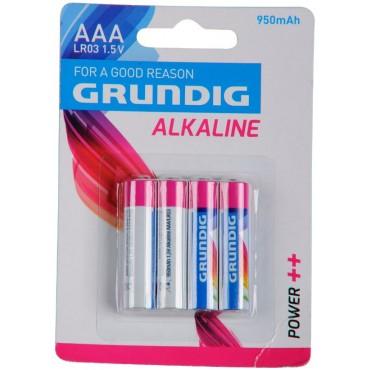 Grundig Batterij Alkaline LR03 AAA 1.5V 950mAh Bls4