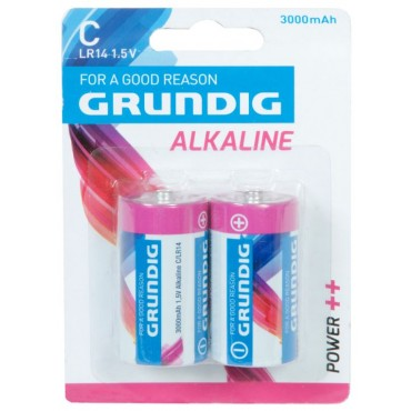 Grundig Batterij Alkaline LR14 C-Cell 1.5V 3000mAh Bls2