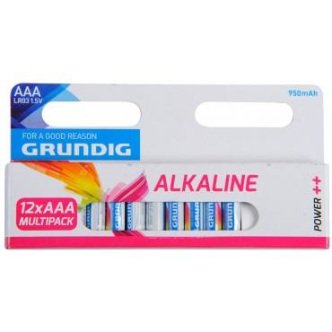 Grundig Batterij Alkaline LR03 AAA 1.5V 950mAh Multipack 12-Pack