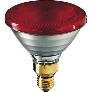 Philips Warmtelamp Persglas Infrarood 175W E27 Rood Par38 Ir175C