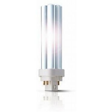 Philips Compact Fluor Plc 18W 840 4000K 4-Pins G24Q-2 Koelwit