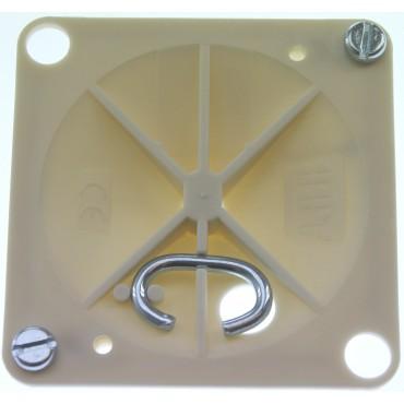 Abb Haf Centraaldoosdeksel Met Haak 3506 Vierkant