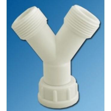 DPS Water Aanvoersplitter y-stuk aansluiting 1x3/4 bi 2x3/4 bu 753092 DHZ Verpakking