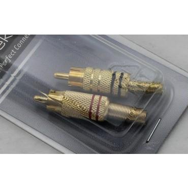 Tulp Cinch Plug Set Goud Male Zwart En Rood Bls1 1553V