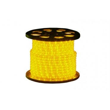 Tronix Lichtslang 230V Crystal Clear Geel 45meter IP44 rond13mm 16.5W per meter compleet geleverd inclusief aansluitstekker