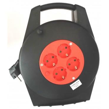 Kabelhaspel Snoerhaspel Thermische Beveiliging Zwart 3x1mm2 15meter