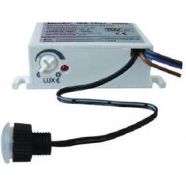 Klemko inbouw schemerschakelaar 830080 IBE-15LI 4,2A (1000W) lux-instelb. 5-300Lux met losse sensor IP55 59x40x23mm inbouwdiameter 12mm