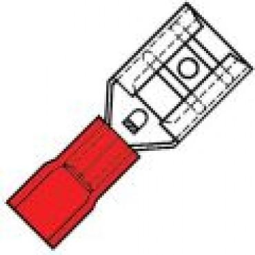 Klemko Geisoleerde vlakstekerhuls 4,8x0,8mm voor draad 0,5-1,5 mm2 100050 - SP 1504 FL-8 verpakt per 100stuks