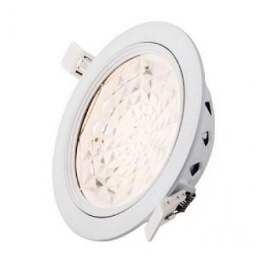 Interlight Led Downlight Top 8W=2x9W 100graden IP44 3000K 640lumen gatmaat 155mm afm. 170x50mm incl driver niet dimbaar IL-DT8100K3