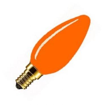 Marine Gloeilamp Kaarslamp 25W E14 220V Oranje 1.000 Hrs.