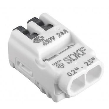 Tridonic SDKF Lasklem Lasdop 2-Gaats Hefboom 0.2-2.5mm 88167926 verpakt per 100stuks