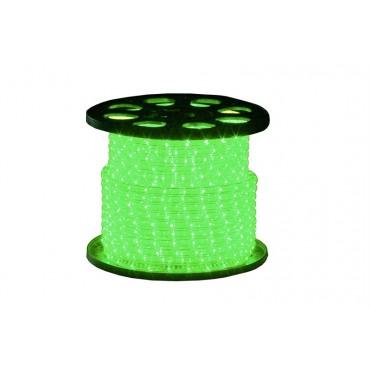 Tronix Lichtslang 230V Crystal Clear Groen 45meter IP44 rond13mm 16.5W per meter compleet geleverd inclusief aansluitstekker