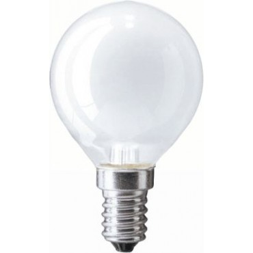 Gloeilamp Kogellamp Laagspanning 12V 25W E14 Mat 45Mm