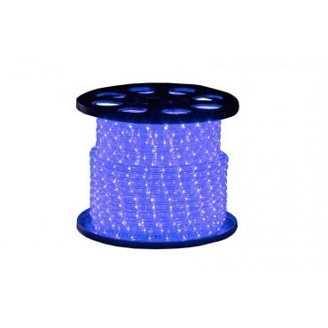 Tronix Lichtslang 230V Crystal Clear Blauw 45meter IP44 rond13mm 16.5W per meter compleet geleverd inclusief aansluitstekker