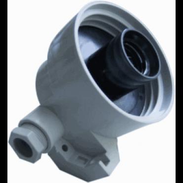 Corodex Hoekkabel Armatuur 60W Grijs 494Gm Kabeldoorvoer Exclusief Glas