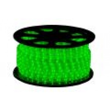 Tronix Lichtslang Led 24V Groen 30M IP44 Rond 13mm Striped Wire