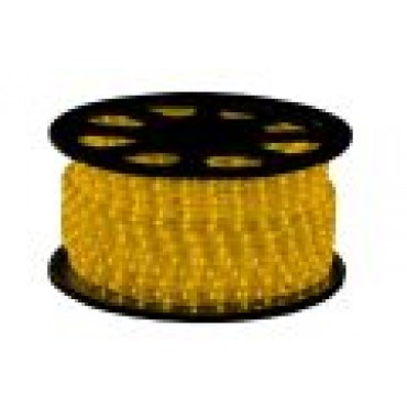 Tronix Lichtslang Led 24V Geel 30M IP44 Rond 13mm Striped Wire