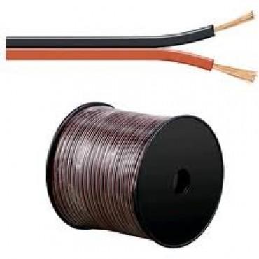Haspel Luidspeakersnoer Lsp 2x4mm2 Rood Zwart rol van 100meter 1-0953
