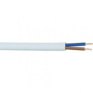 VMVS snoer rond 2x0.75mm2 Wit 100meter H03VV-F