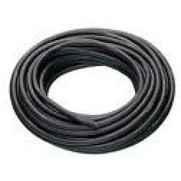 Neopreen / Rubber H07RN-F 2x1mm2 Zwart Ring 100meter