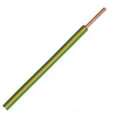 Donne Vd-Draad Installatiedraad 6mm2 Geel/Groen per meter 008330D3