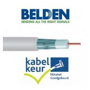 Belden Coaxkabel Sateliet H125D00 DuoBondPlus PVC Wit 100Mtr Doos met Kabelkeur