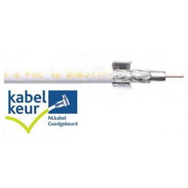 Belden Coaxkabel Sateliet H125D00 DuoBondPlus PVC Wit 500Mtr Haspel met Kabelkeur