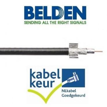 Belden H125D00 Coaxkabel DuoBondPlus PVC KABELKEUR zwart 500mtr Haspel