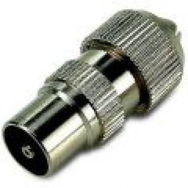 Coax Plug Male Recht Metaal