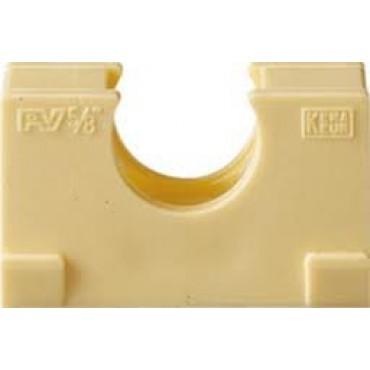 Polfix Klemblok 5/8 16mm Creme prijs per stuk 1196900829