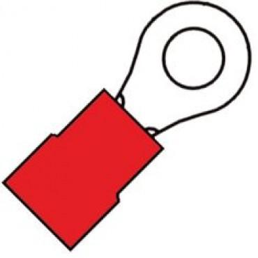Klemko Kabelschoen Geisoleerde ringkabelschoen M10 voor draad 0,5-1,5 mm2 100140 - A 1510 R verpakt per 100stuks