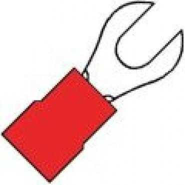 Klemko Geisoleerde 1/2rond vorkkabelschoen M6 voor draad 0,5-1,5 mm2 100340 - A 1565 G verpakt per 100stuks