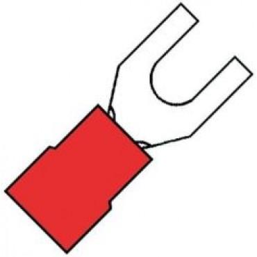 Klemko Geisoleerde vorkkabelschoen M3,5 voor draad 0,5-1,5 mm2 B=6.4mm 100210 - A 1532 GS verpakt per 100stuks