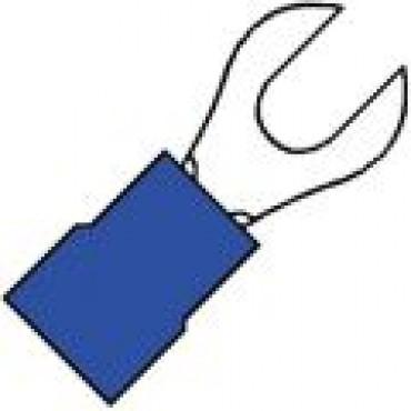 Klemko Geisoleerde 1/2rond vorkkabelschoen M6 voor draad 1,5-2,5 mm2 100750 - A 2565 G