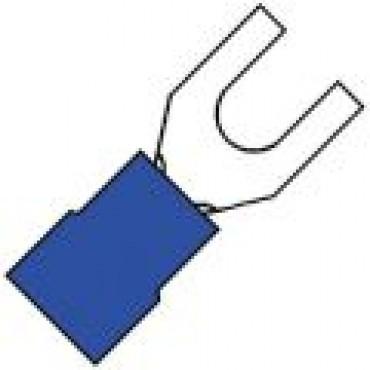 Klemko Geisoleerde vorkkabelschoen EW (extra wijd) M4 voor draad 1,5-2,5 mm2 B=6,4mm 100630 - A 2540 GS6.4
