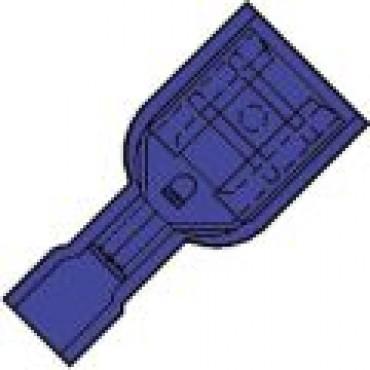 Klemko Volledig geisoleerde vlakstekerhuls 4,8x0,8mm voor draad 1,5-2,5 mm2 101280 - IS 2504 FL-8