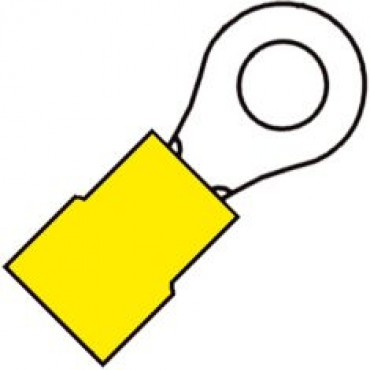 Klemko Geisoleerde ringkabelschoen M10 voor draad 4,0-6,0 mm2 101030 - A 4610 R verpakt per 100stuks