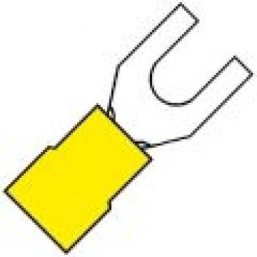 Klemko Geisoleerde vorkkabelschoen M4 voor draad 4,0-6,0 mm2 101080 - A 4640 GS verpakt per 100stuks