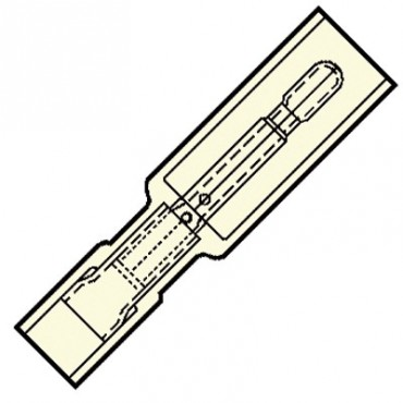 Klemko Kabelschoen Volledig Geïoleerde micro rondsteker 2mm voor draad 0,1-0,5 mm2 24.5Mm x 3.5Mm IS-0502HA 101330