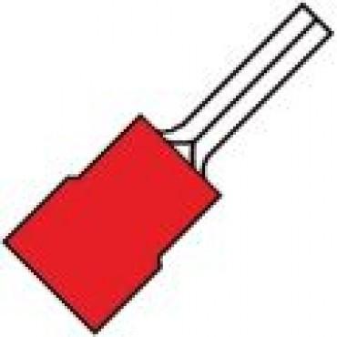 Klemko Geisoleerde pensteker 12mm voor draad 0,5-1,5 mm2 101430 - SP 1519 SR verpakt per 100stuks