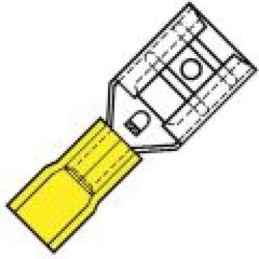 Klemko Geisoleerde vlakstekerhuls 9,5x1,2mm voor draad 4,0-6,0 mm2 101010 - SP 4609 FL verpakt per 100stuks