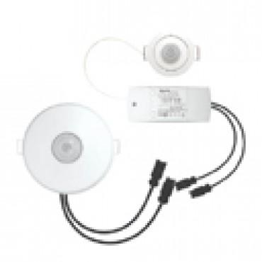 Klemko 870950 Aanwezigheiddetector Inbouw Plf-Ib-Pir/Q-Wi Pir Max.2200W 360graden met Wielandstek