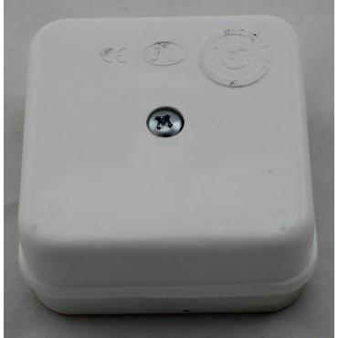 Snoerdoosje Vierkant 325 4 60X60X30Mm Met 4 Vaste Schroefverbindingen