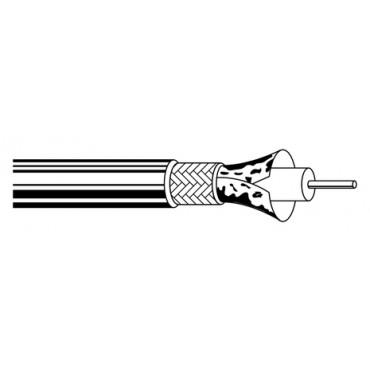 Belden Coaxkabel Sateliet H121 Zwart AL/PVC rol van 100meter Doos diameter rond 5mm