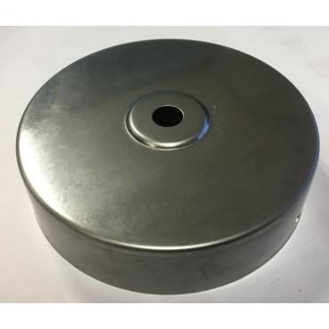 Plafondkap Stoere Zolderkap Metaal 95x25mm1-Lichts Blank Staal D580/0