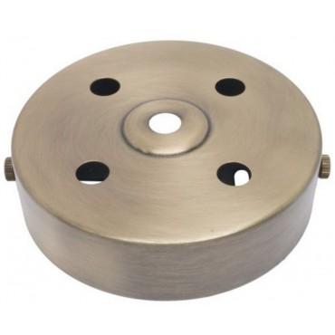 Plafondkap Stoere Zolderkap Metaal 95x25mm 5-Lichts Brons Geschuurd D580/4A