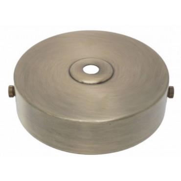 Plafondkap Stoere Zolderkap Metaal 95x25mm1-Lichts Brons Geschuurd D580A