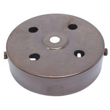 Plafondkap Stoere Zolderkap Metaal 95x25mm 5-Lichts Engels Brons D580B/4H